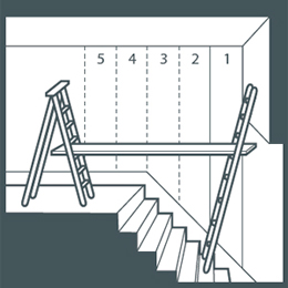 Total design for Papier peint cage escalier